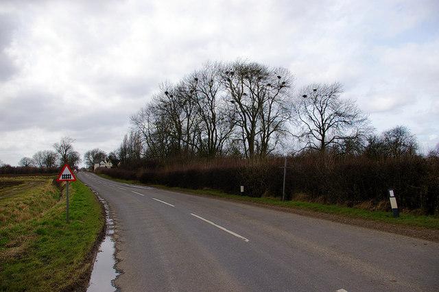 B1205 Near Northorpe Level Crossing