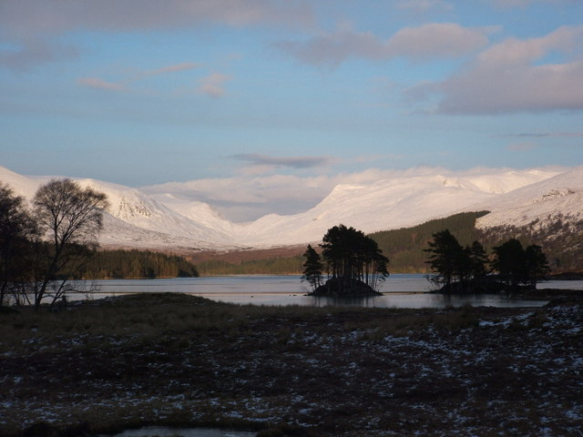 Loch Ossian from the south-west