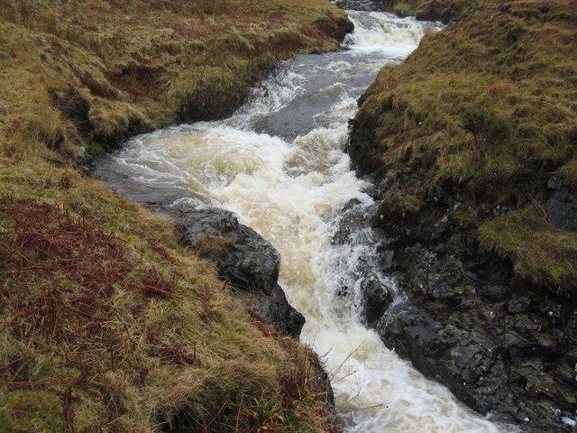 Waterfall in Gleann Oraid