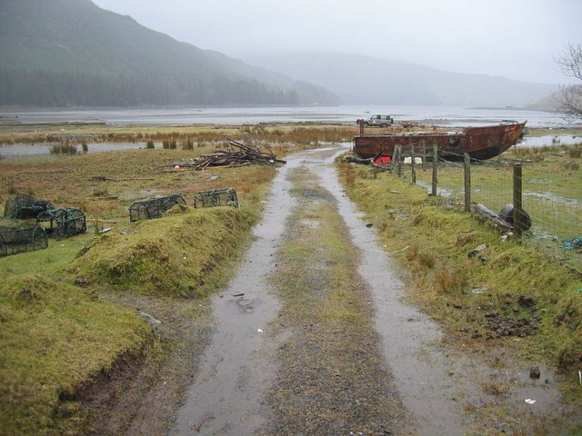 Fishing Equipment at the head of Loch Eynort