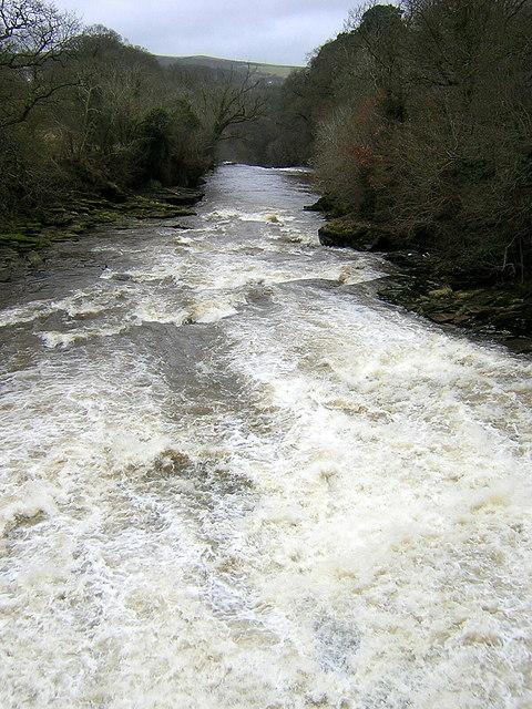 View Towards Stonebyres Falls
