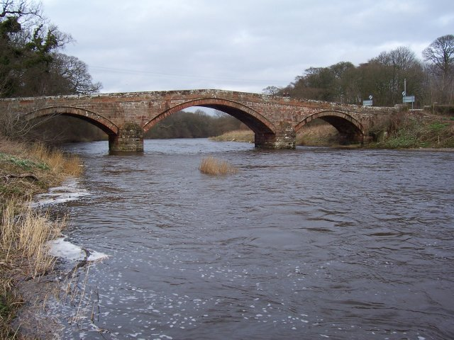 The river Annan at Brydekirk.