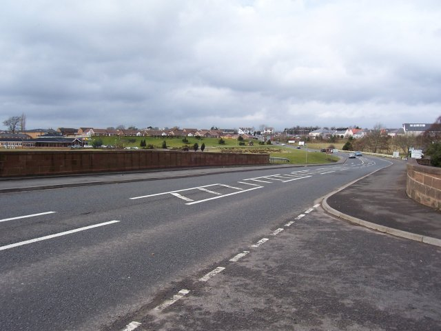 View of Gretna from England