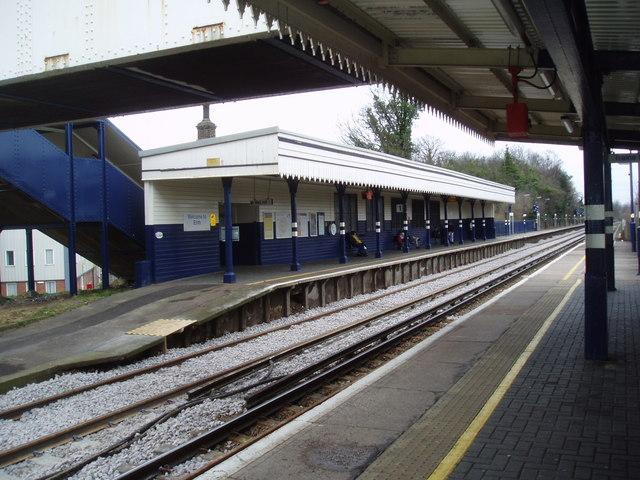 Up platform, Erith station. Kent