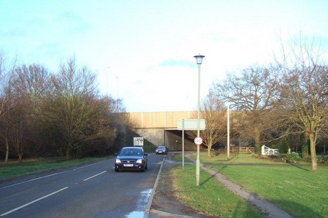 M25 Bridge at Thorpe Green