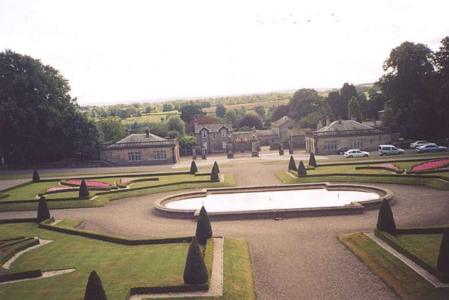 The Garden at the front of the Bowes Museum