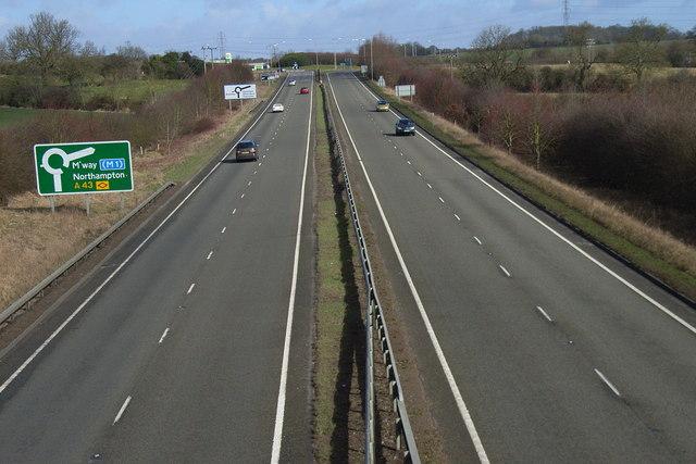 The A43, Brackley
