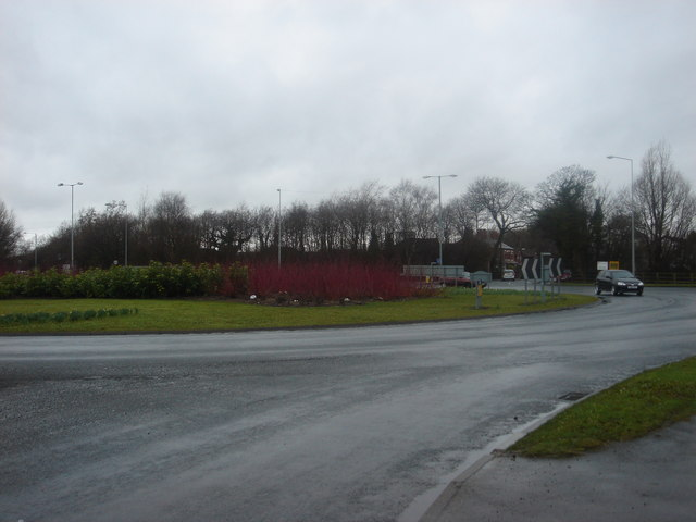 Roundabout on the B5256 at Leyland