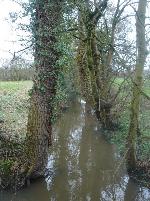 Mill Brook where Broadoak Lane meets Harrison Lane