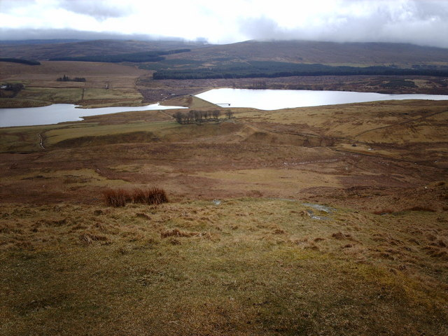 Gryfe Reservoirs from Corlick Hill