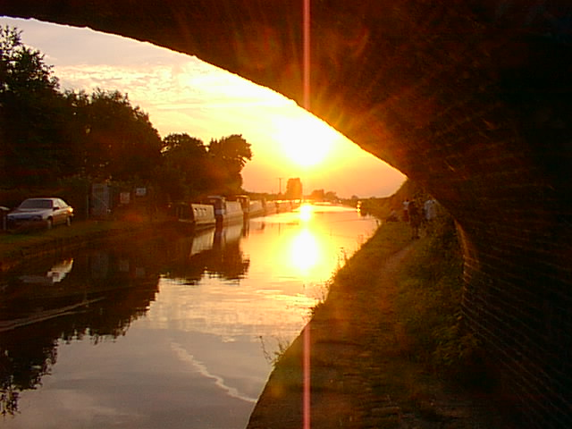 Evening Sunset on Bridgewater Canal