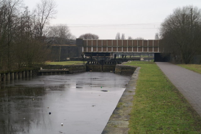 First of the 21 locks of the Wigan Flight