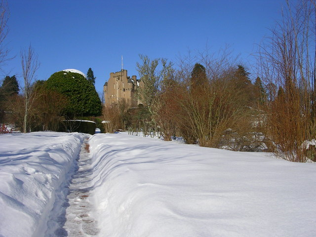Crathes Castle June Borders in Winter