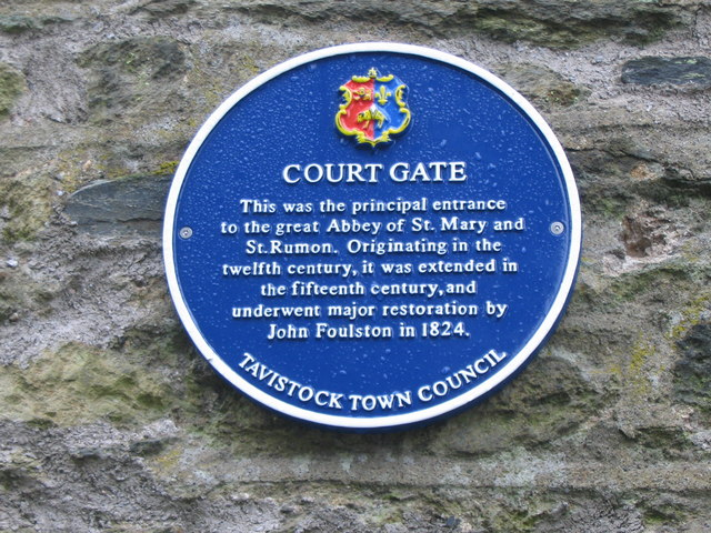 Court Gate plaque