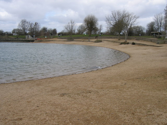 Beach in winter, Keynes Country Park