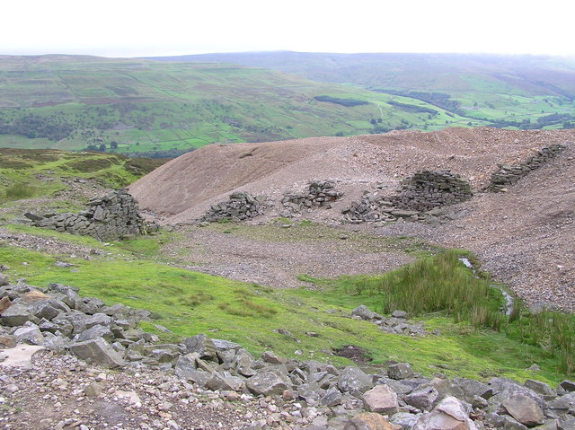 Mine Workings : Above Whin Hall.