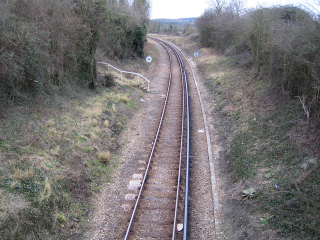 Ryde to Shanklin railway line near Brading