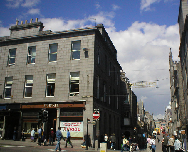 Union Street and Belmont Street, Aberdeen