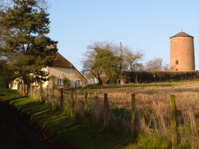 Windmill, and Windmill Cottage, Broadclyst