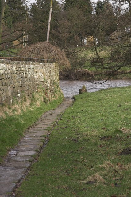 Bridleway crossing the Esk at Lealholm