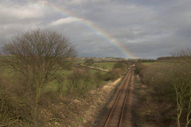 The Esk Valley Railway near Lealholm