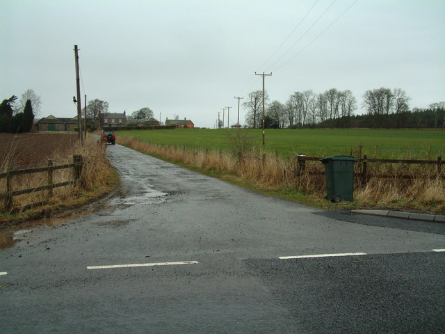Mains of Murie farm road