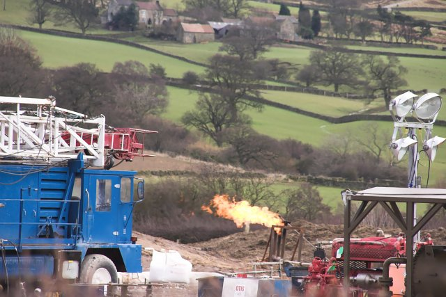 Flaring off Natural Gas at Westerdale