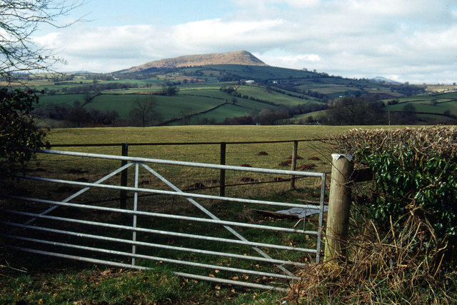 Farmland south of Llangattock Lingoed