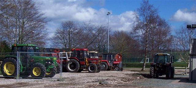 Tractor Park at Newton Rigg.