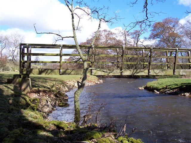 Footbridge to Penrith from Catterlen.