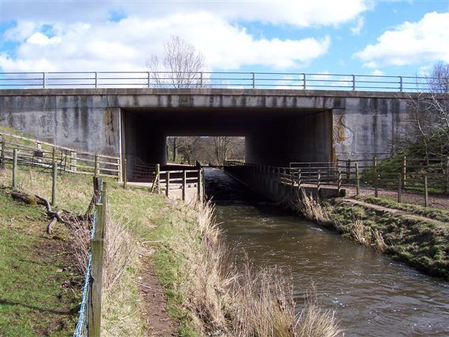 River bridge under M6.