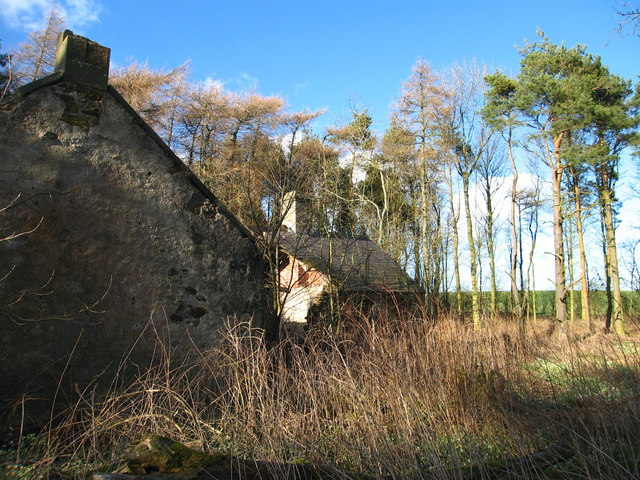 The remains of Pinkerton Hill Cottage, near Dunbar