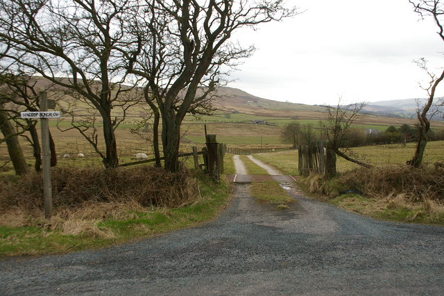 Entrance and road to Harrop Bungalow