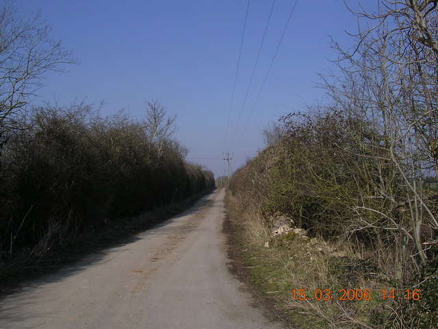 Old Railway track near Foss Cross