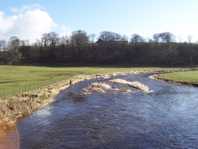 River Ribble from Halton Bridge
