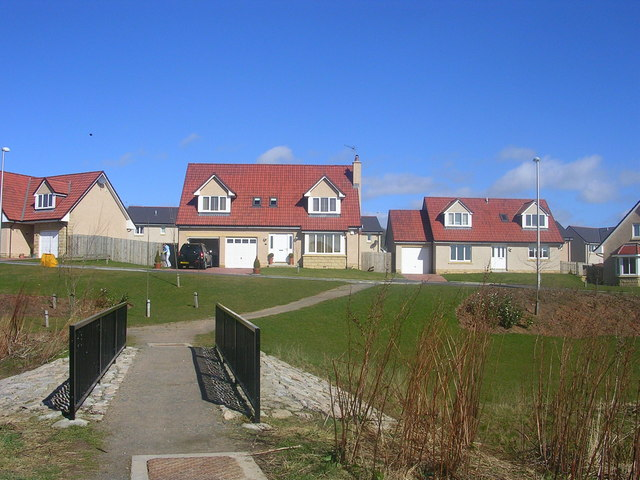 New houses at Balmedie