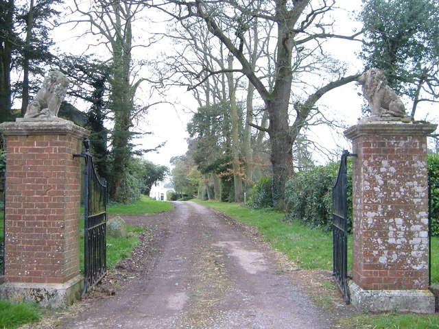 Entrance to Rockbeare Manor