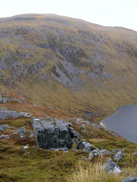 View above Loch a' Bhealaich Leamhain