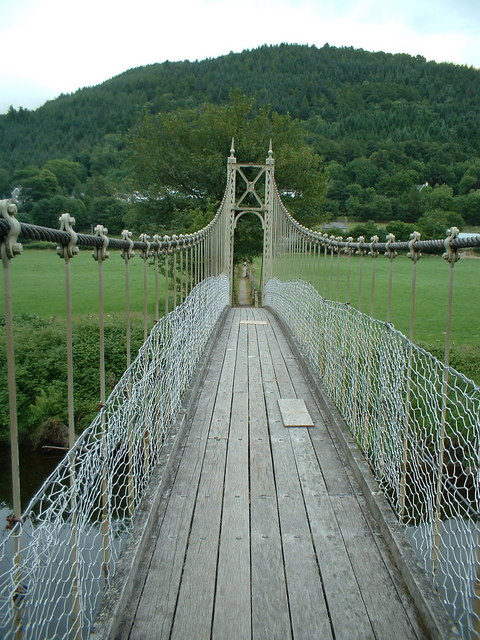 Footbridge over the River Conwy
