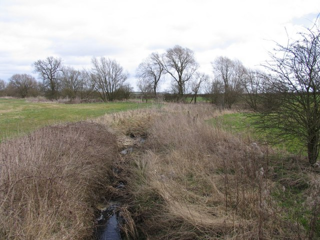 A brook along  the boundary