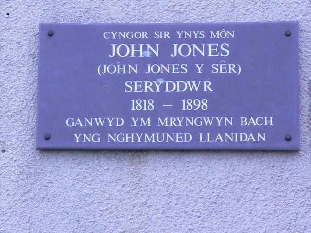 Memorial to an Astronomer, John Jones Y Sêr.