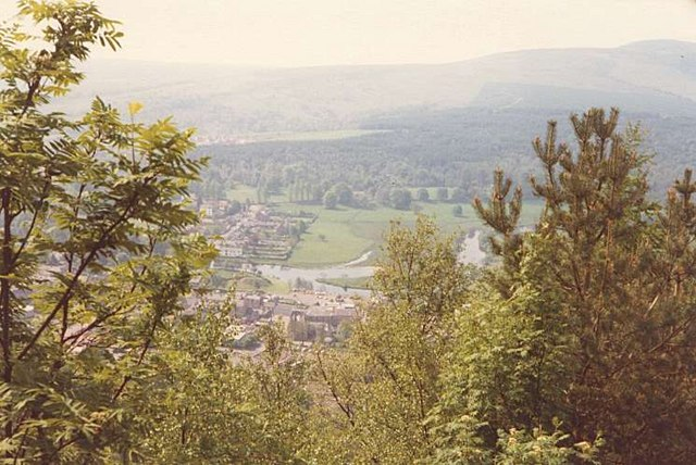 Callander viewed from Brackland Glen