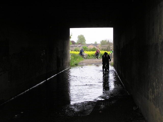 Motorway underpass (flooded most of the year)
