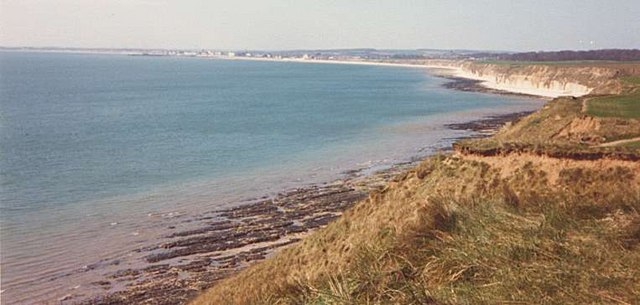 View towards Bridlington from Southern end of Danes Dyke