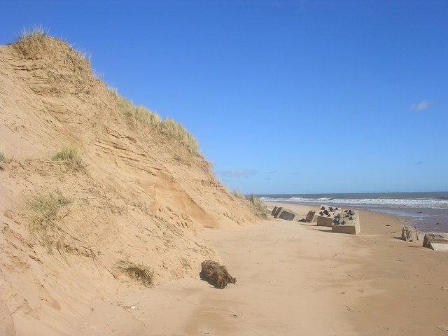 Sand dunes on Balmedie Beach