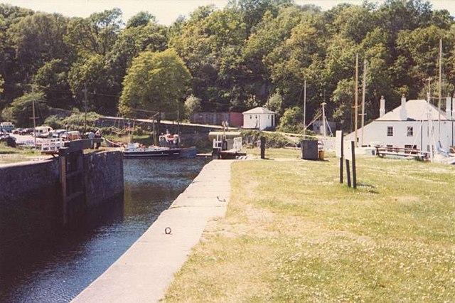 Crinan Canal Exit Lock