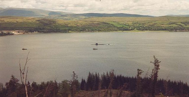 Nuclear Submarine in Loch Long