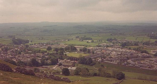 Looking down on Settle