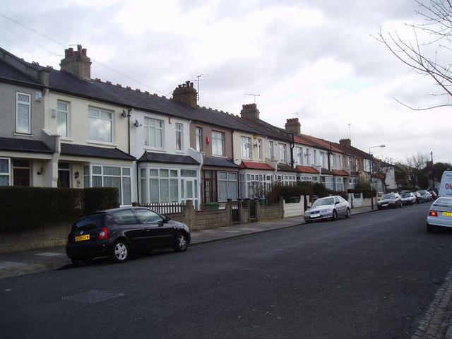 Terrace houses, Blithdale Road, Abbey Wood, London SE2