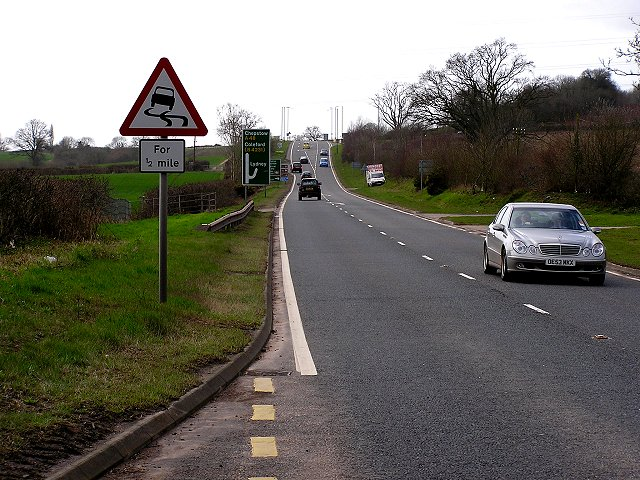 A48 , North of Lydney